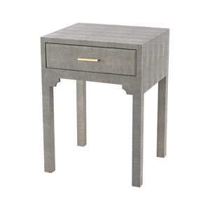 Sands Point Grey Faux Shagreen Accent Table