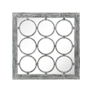 Maidstone Black Ash White Antique Mirror