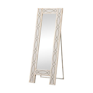 Albiera Natural Linen Driftwood Grey Mirror