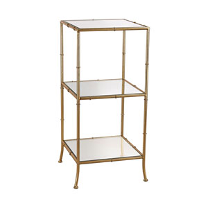 Bamboo Gold Shelving Unit