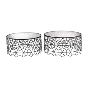 Set of 2 Vector Black Coffee Tables