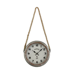 Somers Point Salvaged Metal Wall Clock