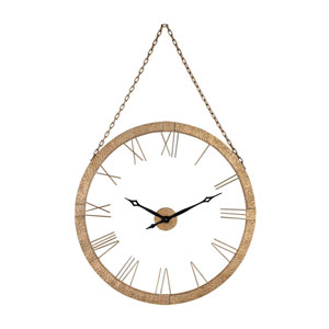 Geri Gold Leaf Wall Clock