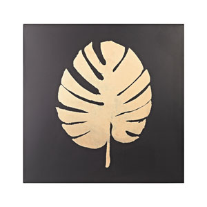 Black and Gold Metallic Palm Frond