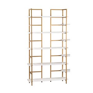 Gloss White and Gold Shelving Unit