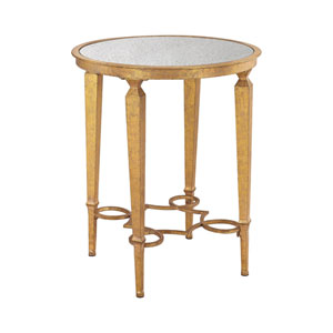 Alcázar Antique Gold Mirror Accent Table