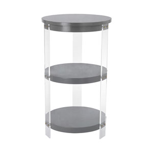 Gothenburg Grey Clear Accent Table