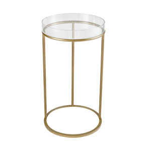 Hyperion Aged Gold Round Accent Table