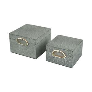 Saint-Tropez Grey Decorative Boxes - Set of 2