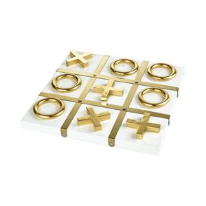 Vanquish Gold Decorative Tic Tac Toe Game