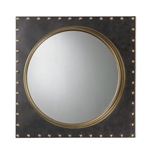 Bronze Rivet Porthole Mirror
