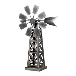 Metal Industrial Lead 20-Inch Wind Mill Decorative