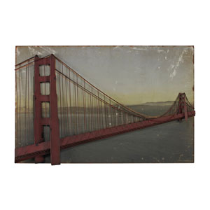 Print Red and Rust 28-Inch Wall Art