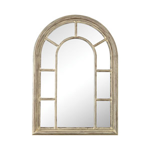 Windward Cream Washed Woodtone Mirror