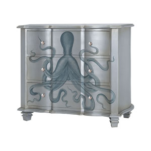 Gorgon Silver Leaf Blue Chest