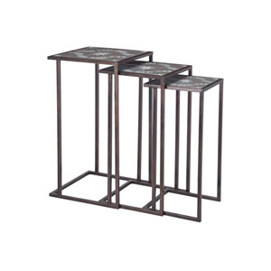 Set of 3 Seneca Salcombe Silver Accent Tables