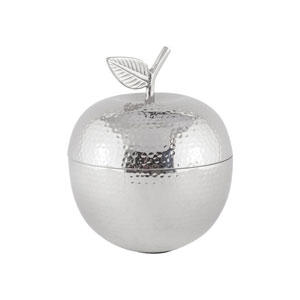 Pippin Nickel Decorative Apple Container