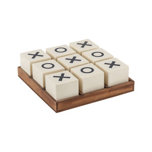 Crossnought Cream Natural Tic-Tac-Toe Game