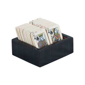 Cardsharp White and Black Decorative Card Box