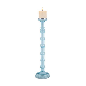 Catalina Sea Mist Blue 28-Inch Candle Holder