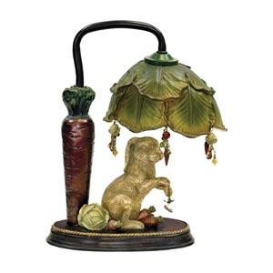 Rabbit Under Leaf Desk Lamp