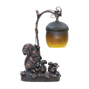 Squirrel Acorn Light Desk Lamp