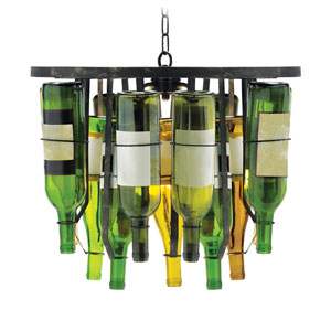 Collectors Two-Light Bottle Chandelier