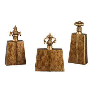Chestnut 9-Inch Decorative Finial, Set of 3