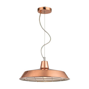 Ajax Copper Four-Light Pendant