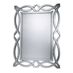 Mdf and Glass 42-Inch Arched and Crowned Mirror