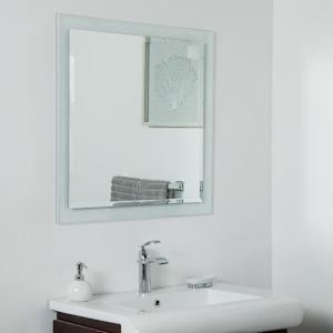 Beveled Edge Square Frameless Wall Mirror