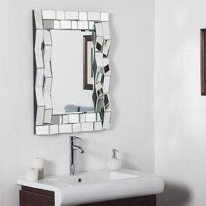 Iso Modern Rectangular Beveled Bathroom Mirror