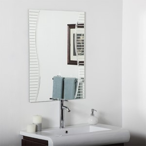 Ava Modern Rectangular Frameless Bathroom Mirror