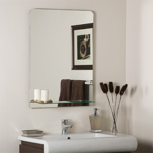 Columbus Rectangular Frameless Wall Mirror