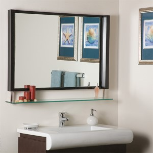 New Amsterdam Framed Espresso Mirror