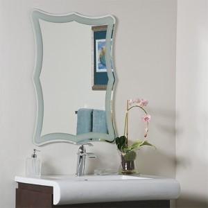 Coquette Novelty Frameless Bathroom Mirror
