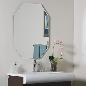 Modern Octagon Frameless Beveled Mirror