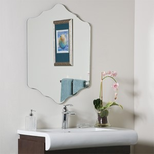 Vandam Novelty Beveled Frameless Bathroom Mirror