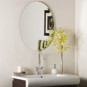 Odelia Oval Beveled Frameless Mirror