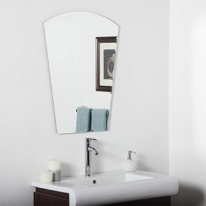 Paris Modern Crowned Top Beveled Frameless Bathroom Mirror
