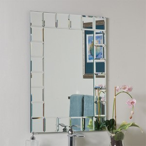 Montreal Modern Rectangular Beveled Bathroom Mirror