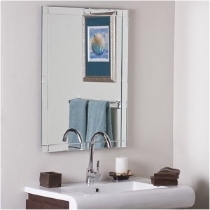 Contemporary Large Frameless Wall Mirror