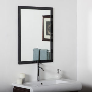 Black Rectangular Beveled Frameless Kinana Mirror