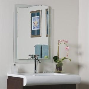 Tula Novelty Beveled Frameless Bathroom Mirror