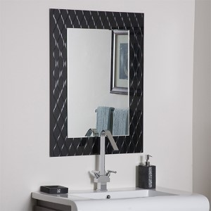 Strands Modern Frameless Mirror