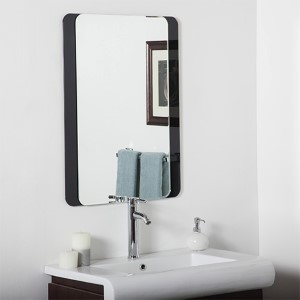 Skel Rectangular Beveled Frameless Bathroom Mirror