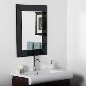 Infinity Modern Rectangular Beveled Wall Mirror