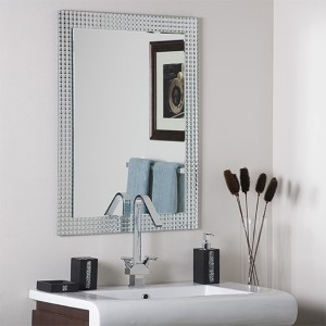 Disco Inferno Frameless Mirror