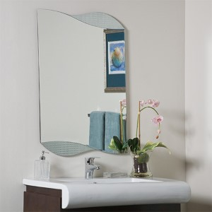 Sonia Novelty Beveled Bathroom Mirror