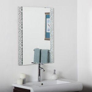 Rectangular Beveled Frameless Vanity Mirror